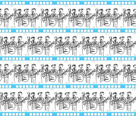 Beatles Moptops fabric by andybee on Spoonflower - custom fabric