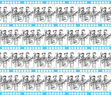 Beatles Moptops fabric by andybee on Spoonflower - custom fabric