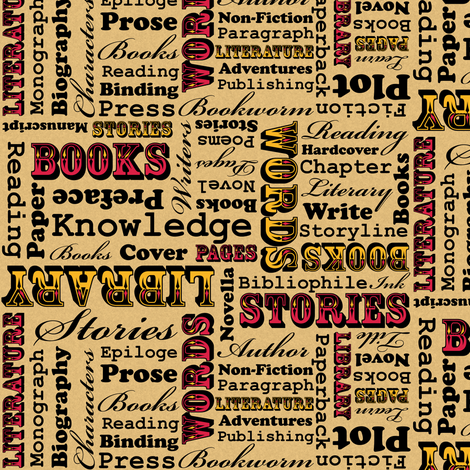 A Book Lover's Medley (Small) fabric by robyriker on Spoonflower - custom fabric