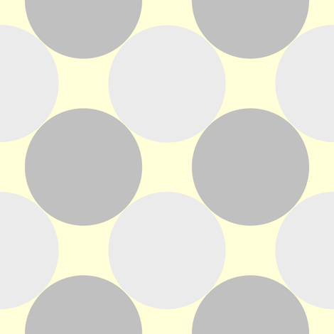 circles grey yellow fabric by mojiarts on Spoonflower - custom fabric