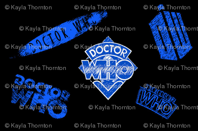 Doctor Who Logos On Black