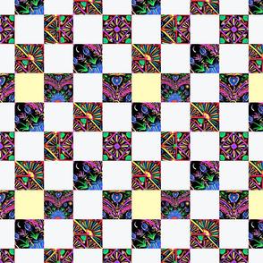 truck art 4 patchwork quilt