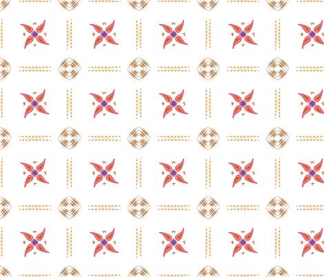 Multani Floral 1 red squares