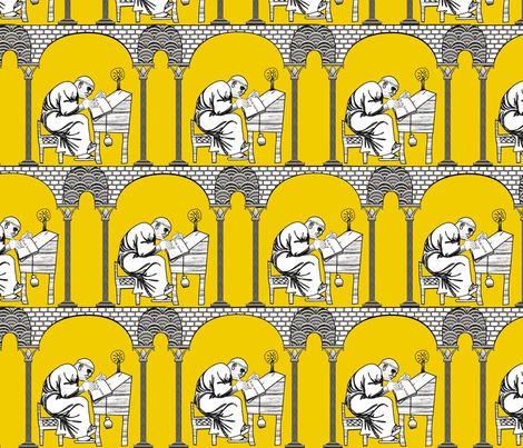 Scriptorium golden rule fabric by glimmericks on Spoonflower - custom fabric