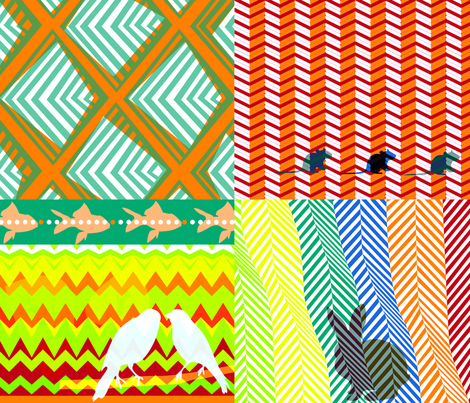 ZigZag_Zoo fabric by chris_aart on Spoonflower - custom fabric