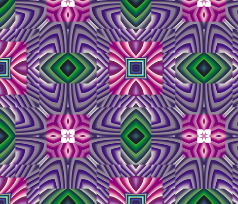 Flowery Incan Tiles 1 fabric by animotaxis on Spoonflower - custom fabric