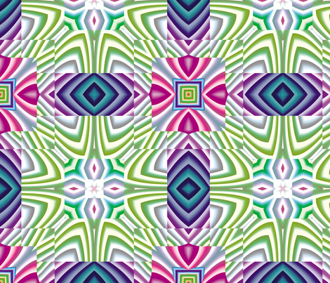 Flowery Incan Mosaics 2 fabric by animotaxis on Spoonflower - custom fabric
