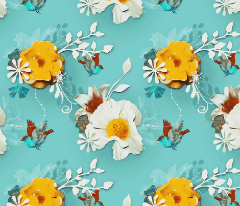 Delicate fabric by milliondollardesign on Spoonflower - custom fabric