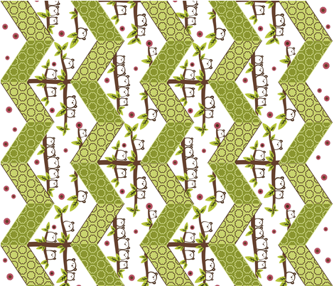 Gum Bear Forest Zig-Zag Cheater Quilt fabric by cutekotori on Spoonflower - custom fabric