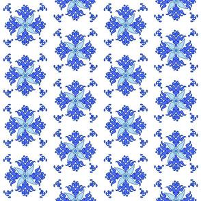 Multani Floral 1 blue bloom