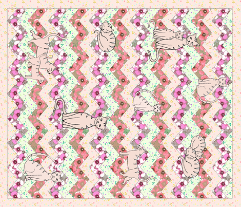 Amielle's first blanket fabric by fantazya on Spoonflower - custom fabric