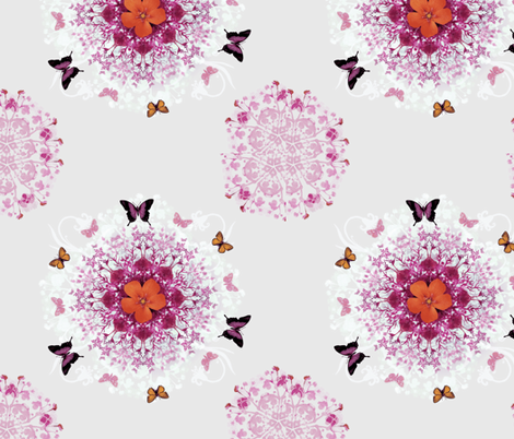 Pink Butterfly Woods fabric by milliondollardesign on Spoonflower - custom fabric