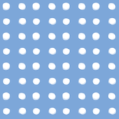 white polka dots on blue