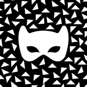 Black and white mask reverse
