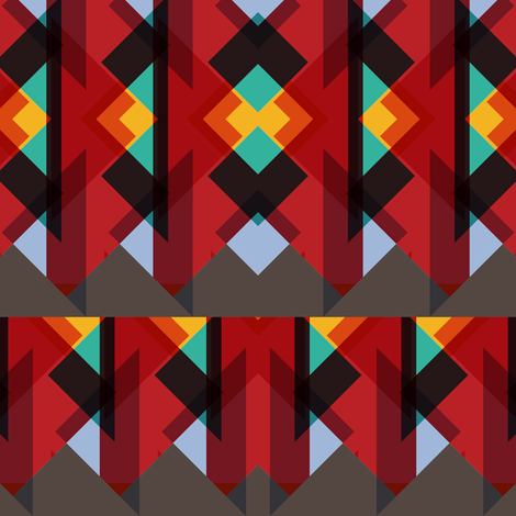 Red based triangles fabric by pencilmein on Spoonflower - custom fabric
