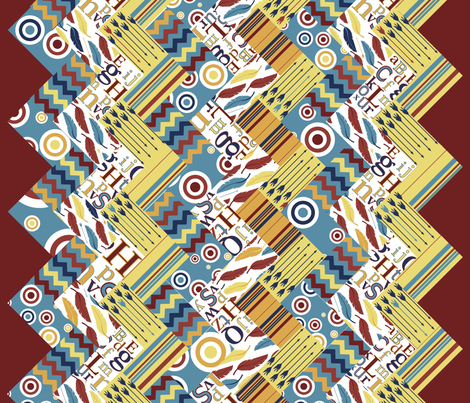 Lodge Chevron Quilt fabric by nightgarden on Spoonflower - custom fabric