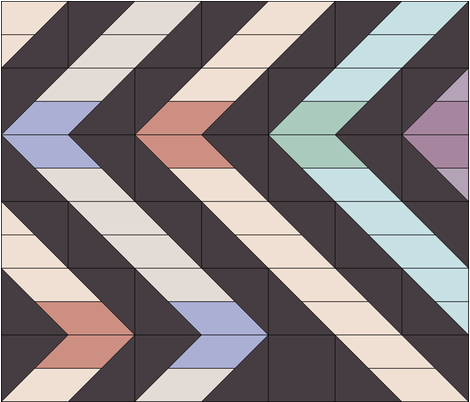 VintageMoxie_ZigZag fabric by nncw12 on Spoonflower - custom fabric