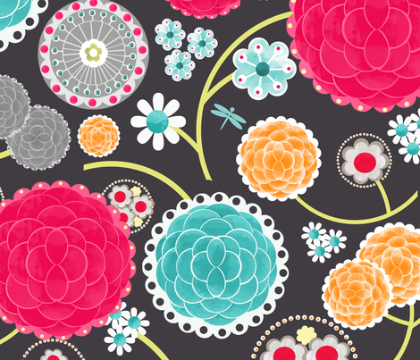 Rita Pinks fabric by natitys on Spoonflower - custom fabric