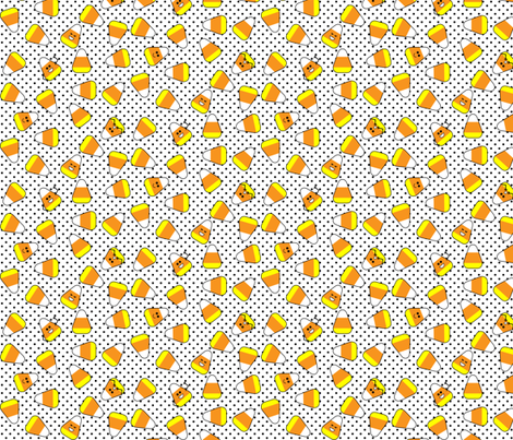 Kawaii Candy Corn fabric by risarocksit on Spoonflower - custom fabric