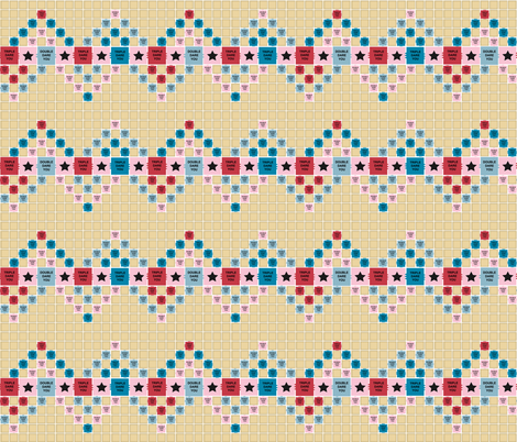 triple dare you zigzag fabric by chickendream on Spoonflower - custom fabric