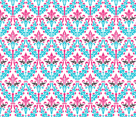 The Damask Divine ~  Lolly fabric by peacoquettedesigns on Spoonflower - custom fabric