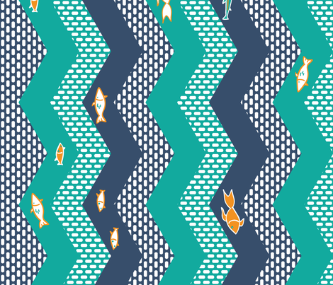 Gulf Stream fabric by annosch on Spoonflower - custom fabric