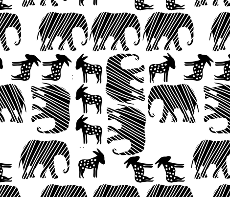 Big Parade fabric by tante_lein on Spoonflower - custom fabric