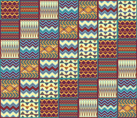 siesta blanket fabric by lisa_brown on Spoonflower - custom fabric