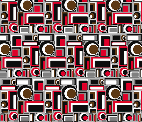 retro fabric by retroretro on Spoonflower - custom fabric