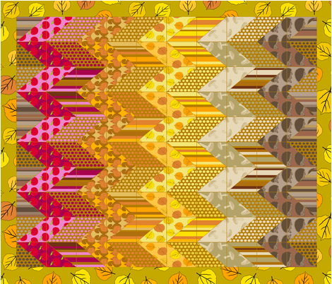 Autumn Delights - Zig Zag Cheater Quilt fabric by uzumakijo on Spoonflower - custom fabric