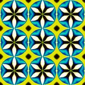 HexaPetals    _White, Turquoise, Lime