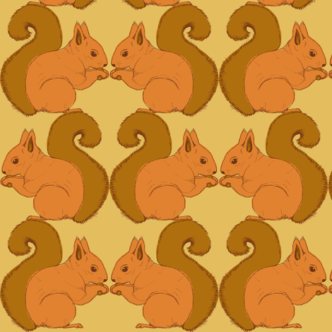 Autumn Delights - Squirrels - biscuit fabric by uzumakijo on Spoonflower - custom fabric
