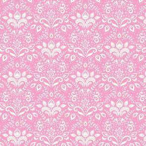 Bohemian Damask - pink & cream