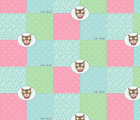 Bobbit_simple_quilt fabric by woodmouse&bobbit on Spoonflower - custom fabric
