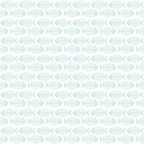 aqua_fish_01 fabric by woodmouse&bobbit on Spoonflower - custom fabric