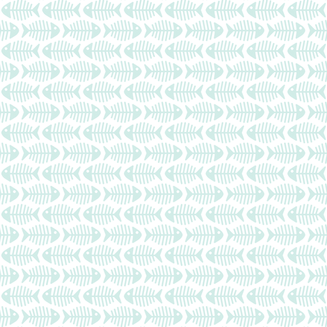 Close Aqua Fishes fabric by woodmouse&bobbit on Spoonflower - custom fabric