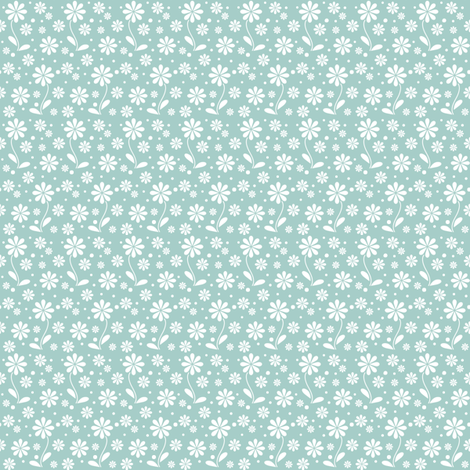 ditsy_flowers_A_W fabric by woodmouse&bobbit on Spoonflower - custom fabric