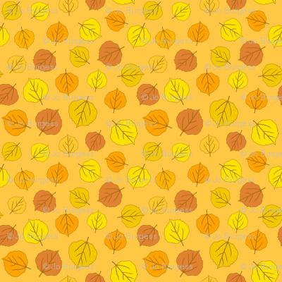 Autumn Delights - Fallen Leaves - Orange