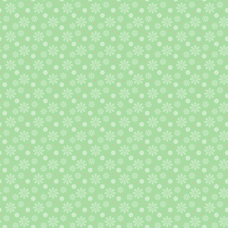 ditsy_flowers_green fabric by woodmouse&bobbit on Spoonflower - custom fabric