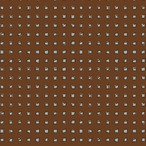 Brown with Blue Squares