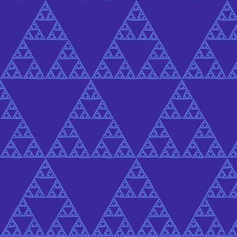 Sierpiński Triangle - twilight fabric by weavingmajor on Spoonflower - custom fabric
