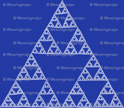 Sierpinski Triangle in Morning Blue