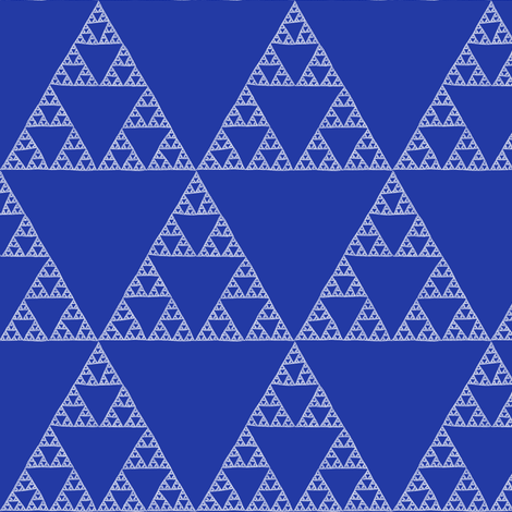 Sierpinski Triangle in Morning Blue fabric by weavingmajor on Spoonflower - custom fabric