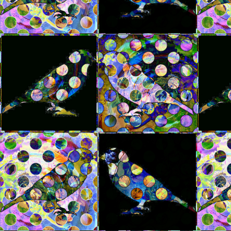 Bird Songs 4 - Peek A Boo fabric by dovetail_designs on Spoonflower - custom fabric