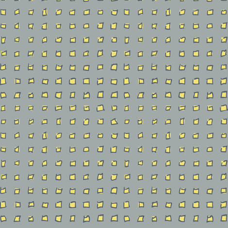 Yellow Squares on Gray fabric by resdesigns on Spoonflower - custom fabric