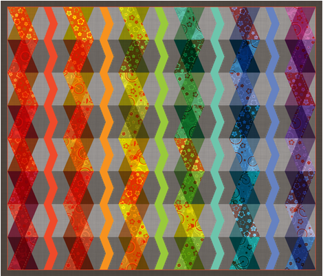 Roy G. Biv (zig-zag cheater quilt panel) fabric by jennartdesigns on Spoonflower - custom fabric