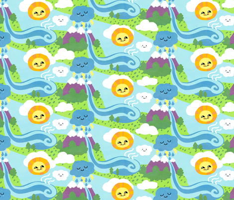 Watercycle fabric by hugandkiss on Spoonflower - custom fabric