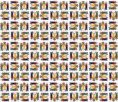 Will, Zeal & Chance Virtue Boys fabric by dancing_fabrics on Spoonflower - custom fabric