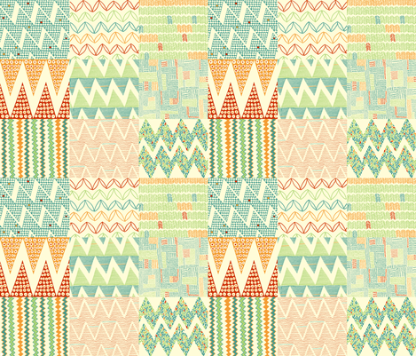 zig_zag_summer fabric by jeannemcgee on Spoonflower - custom fabric