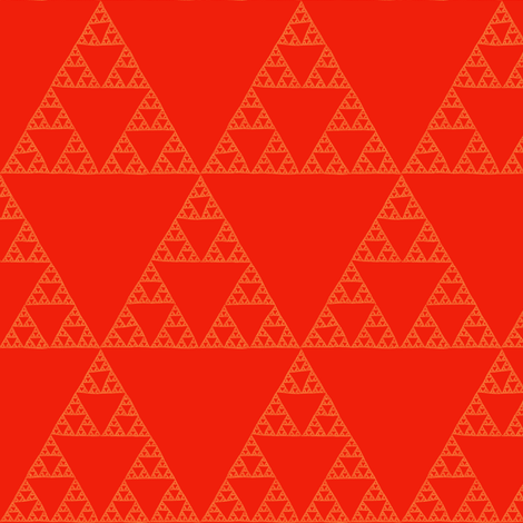 Sierpiński Triangle - tamale fabric by weavingmajor on Spoonflower - custom fabric